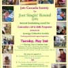 GET YOUR TICKETS NOW - Cascadia's Annual Just Singin' Round (JSR) Fundraiser Tuesday May 2nd