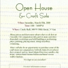 SAVE THE DATE: Open House & Craft Sale Saturday, March 17th