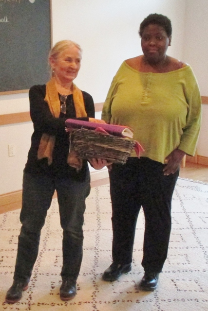 Aileen presented a special book and gifts from all of us to Ruth Oslund as a thank you for all her work at Cascadia