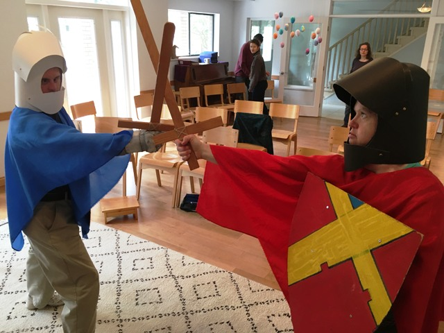 Parsifal knights practice their skills