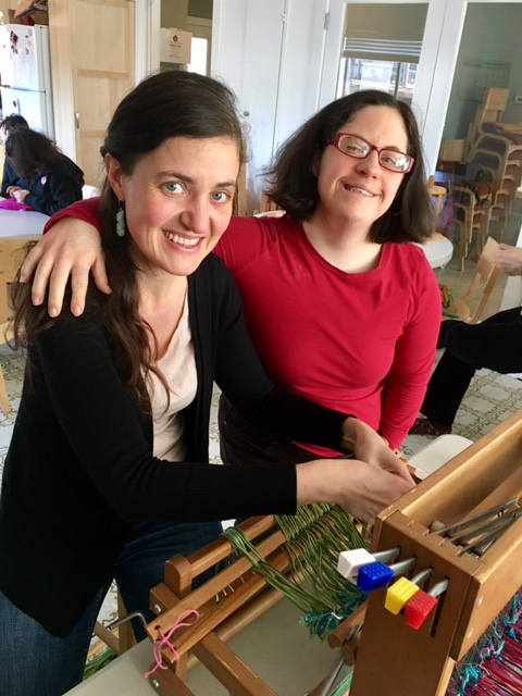Maria and Mary at the loom